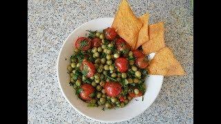 Салат из зеленого горошка с кисло-сладкой заправкой