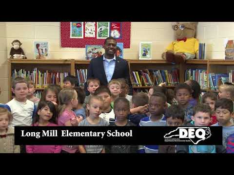 NCDEQ Secretary Michael Regan at Long Mill Elementary School for Earth Day Message