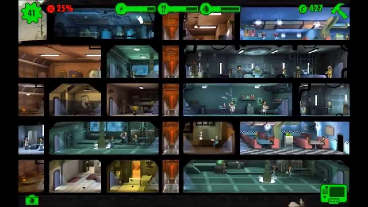 Fallout Shelter 011 Eine Lounge Für Den Bunker 41 Leute Android