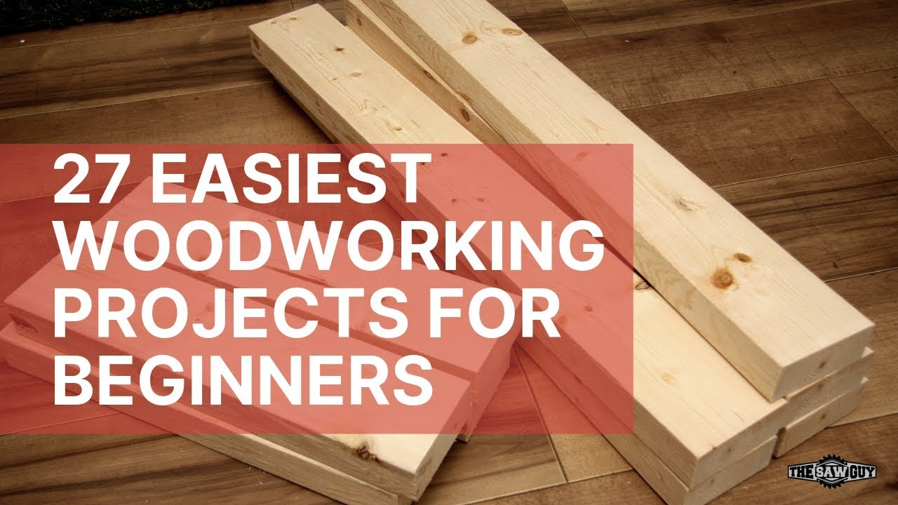 27 Easiest Woodworking Projects For Beginners - The Saw Guy