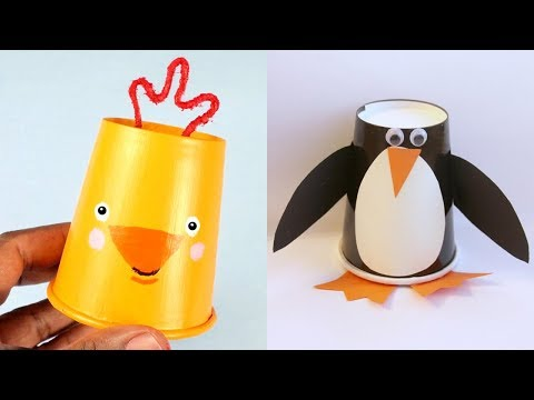 Art and Craft   10 Amazing Paper Cup Crafts   Paper craft For Kids