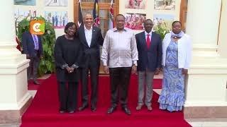 Obama holds talks with Kenyatta at State House