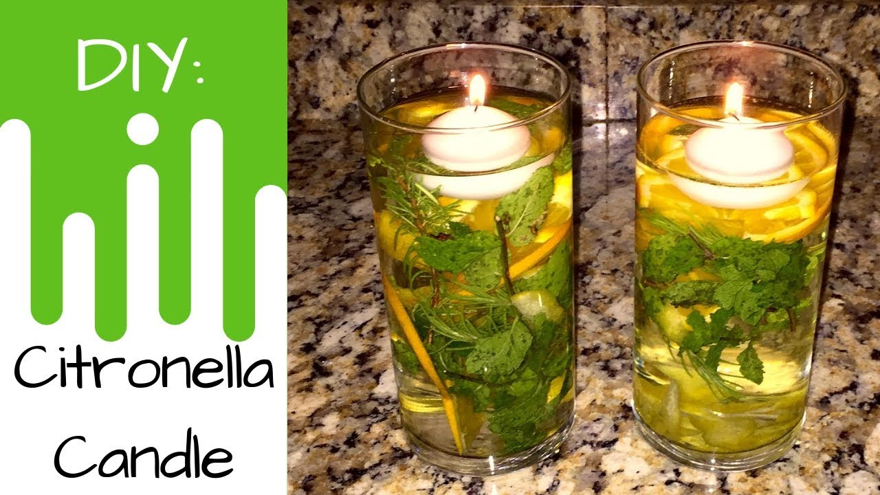Essential Oils Diy Citronella Floating Candle