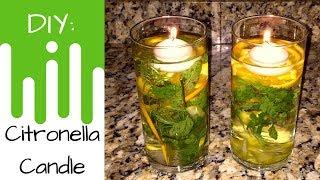 Essential Oils   DIY Citronella Floating Candle