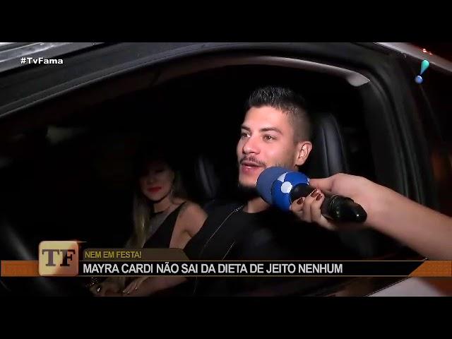 """Mayra Cardi se recusa a sair da dieta em festa de Anitta: """"Jantei em casa"""""""