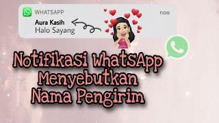 Download lagu Notifikasi WhatsApp Keren Menyebutkan Nama Pengirim