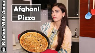 Afghani Chicken Tikka Pizza Recipe | How to make Pizza | Kitchen With Amna