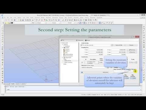VisionCivil by Geo-Plus - Extracting breaklines from LiDAR Turorial