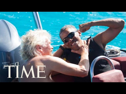Barack Obama vs. Richard Branson: Kitesurfing In Paradise | TIME