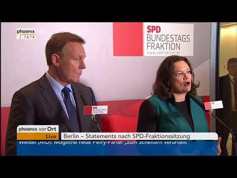 Statement von Andrea Nahles als neue Fraktionsvorsitzende der SPD