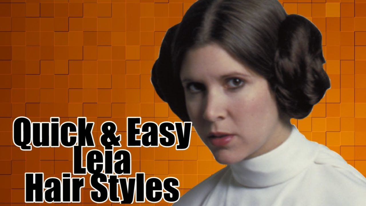 princess leia hairstyle time lapse