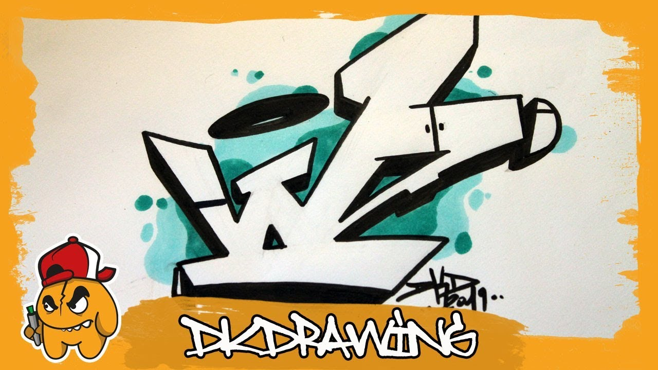 Graffiti Alphabet Tutorial   How to draw graffiti letters   Letter