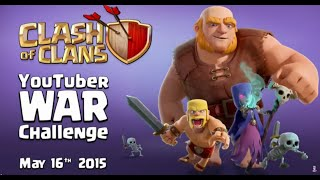 Repeat youtube video Ataques del streaming de SuperCell comentados en Español | Youtuber Clan War Challenge
