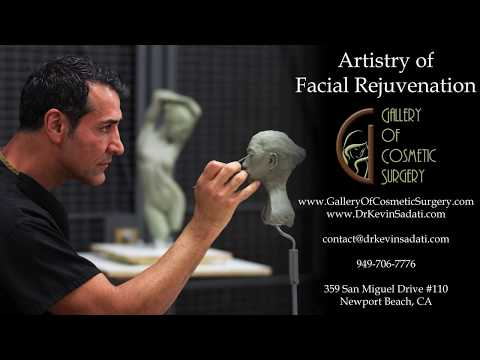 Dr Kevin Sadati, Board Certified Facial Plastic Surgeon in the Operating Room