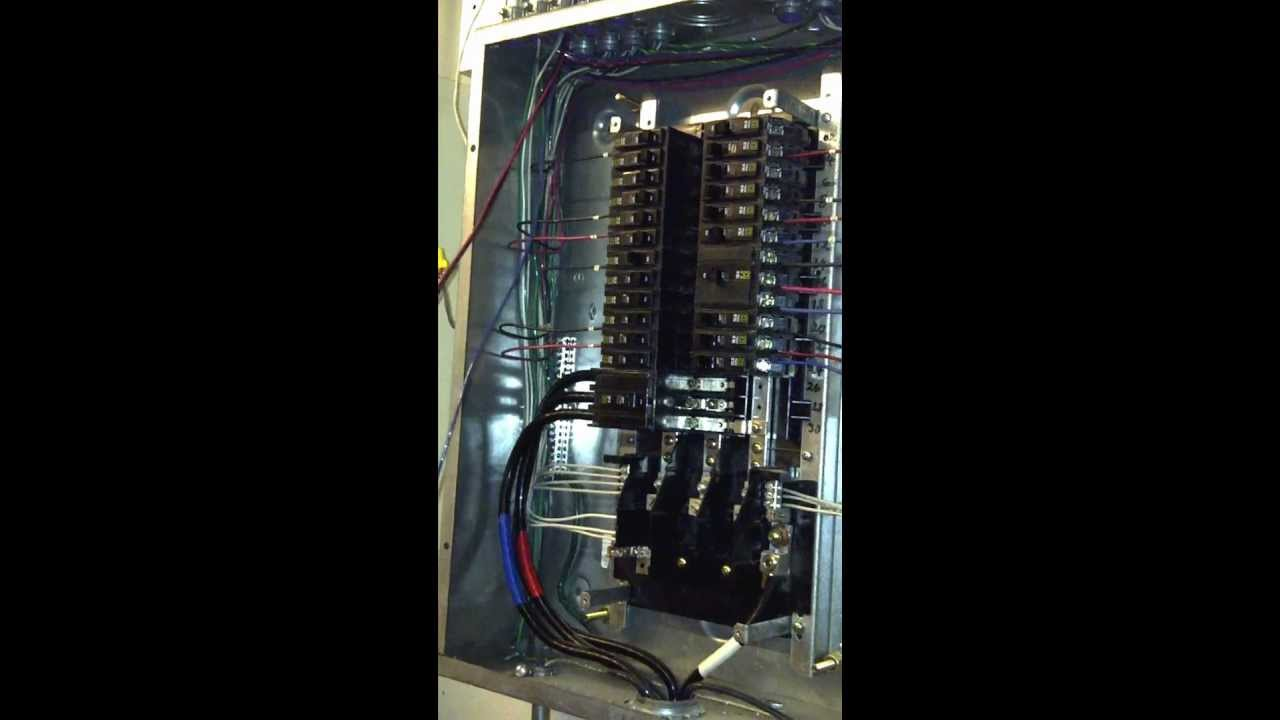 phase panel board wiring youtube