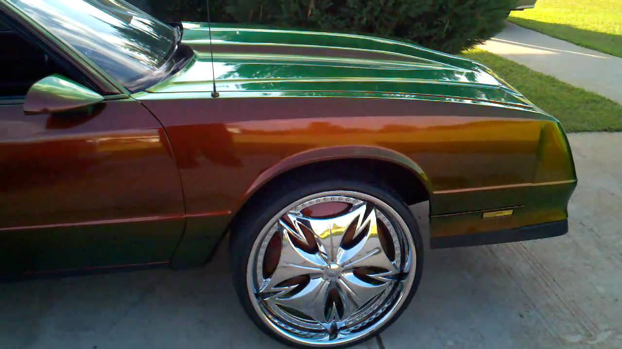 Ace 39 S Monte Carlo Ss With 24 Inch Dub Floater Rims And Flip Flop Paint Youtube