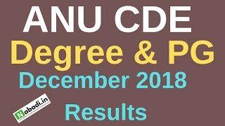 ANUCDE December 2018 Results | ANUCDE Degree & PG 2018 December Results