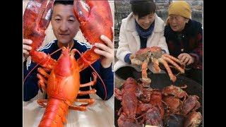 THÁNH ĂN TRUNG QUỐC | ăn CUA HOÀNG ĐẾ  khổng lồ , tôm hùm , hải sản #12 | mukbang eating show