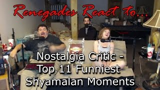 Renegades React to... Nostalgia Critic - Top 11 Funniest Shyamalan Moments