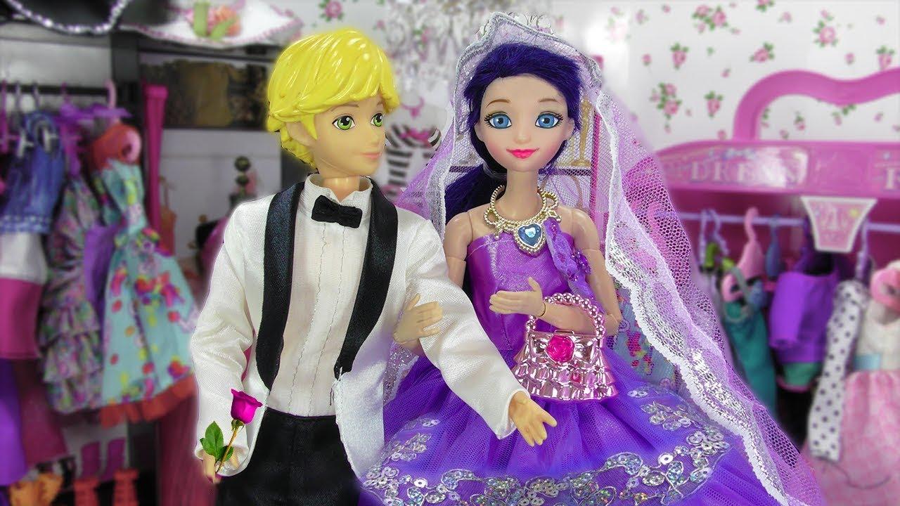 Marinette y Adrien escogen vestidos para la boda | Princesas Elsa y ...