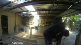Outdoor Pizza Bar Build - Gopro - Time Lapse