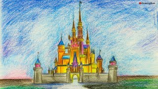 Gambar cover How to Draw a Disney Castle step by step | Drawing Buzz