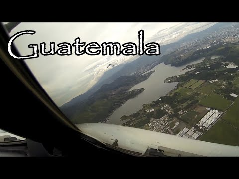 Amazing approach to La Aurora Intl Airport, Guatemala.