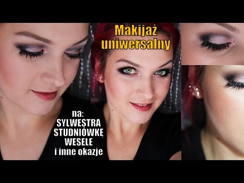 Uniwersalny makijaż na sylwestra, studniówkę i wesele i inne okazje