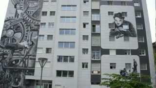 Charlie Chaplin - fresques Vevey