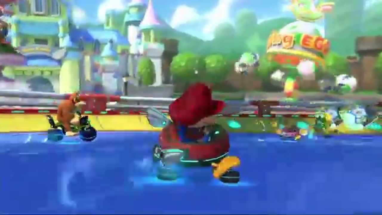 Baby Mario Mario Kart 8: Baby Park GCN In Mario Kart 8 (Japanese Trailer)