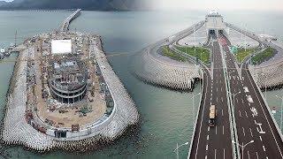 "World's longest sea bridge ""Hong Kong Zhuhai Macau Bridge"" Construction To Completion"