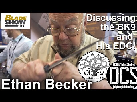 Ethan Becker Discusses The BK9 And His EDC System!  Blade Show 2019