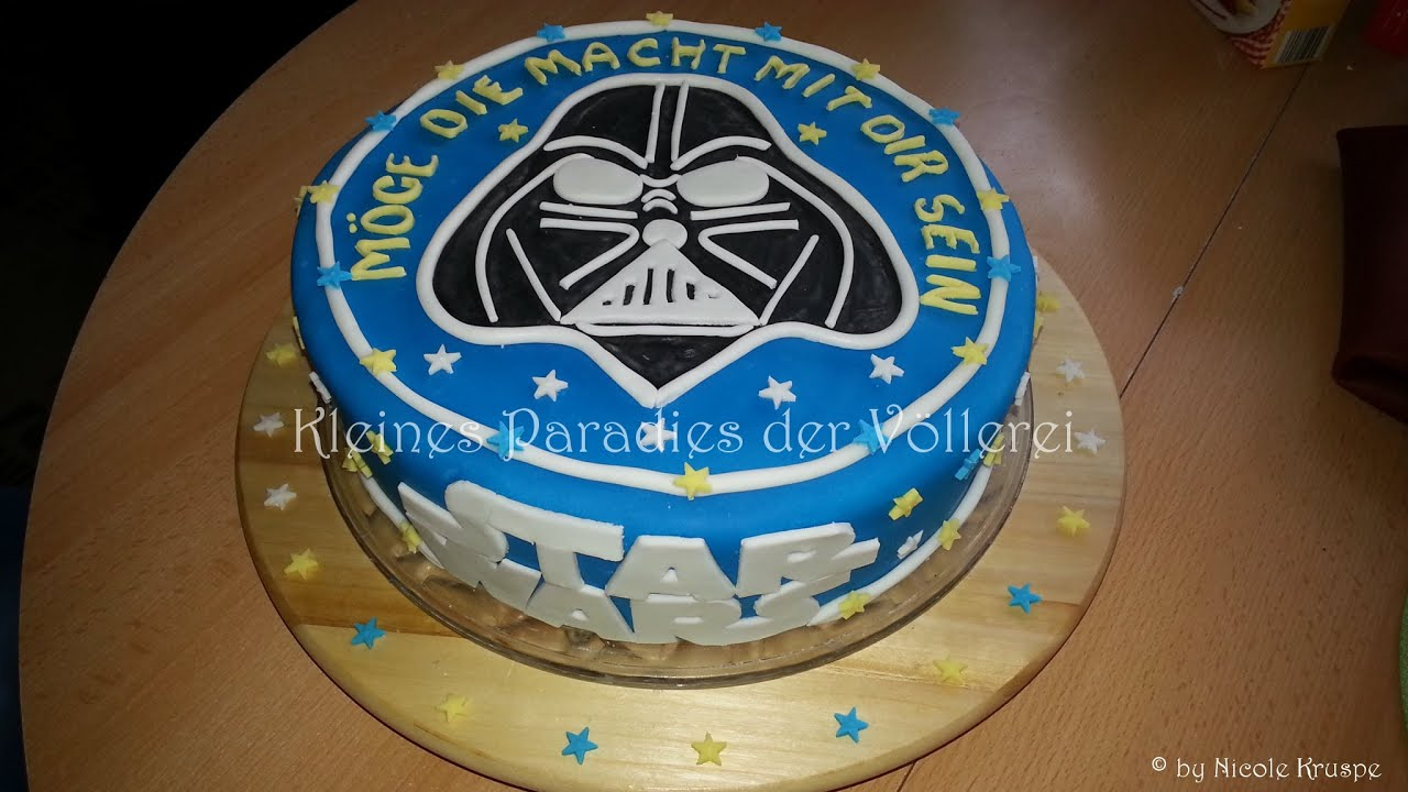 darth vader torte mit schachbrettmuster inside star wars youtube. Black Bedroom Furniture Sets. Home Design Ideas