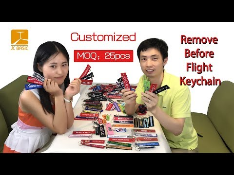 Remove Before Flight Keychain, Custom Remove Before Flight Keychain, Embroidered Keychains