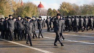 Торжественный строевой смотр полиции Ростовской области