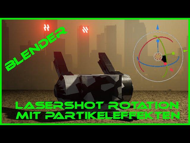 Blender Partikeleffekt nach Rotation ausrichten Tutorial Deutsch