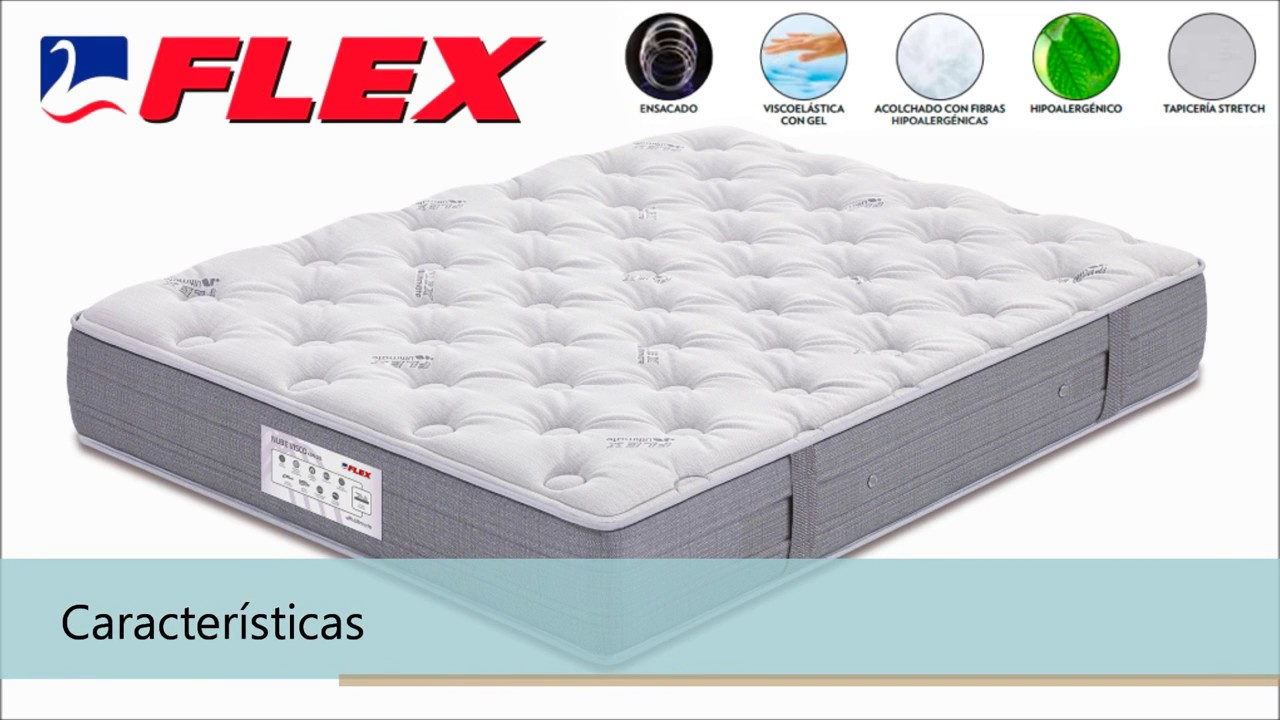 Colchon Nube Visco Gel De Flex Youtube