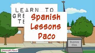 Spanish lessons in cartoon