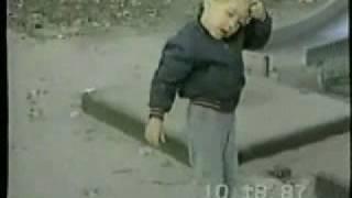 Slide owns kid twice!