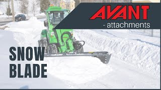 Snow blade, Avant 300-700 Series attachment Thumbnail