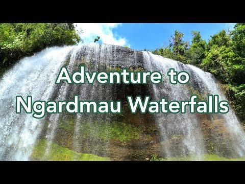 Adventure To Ngardmau Waterfalls In The Republic Of Palau (Micronesia)