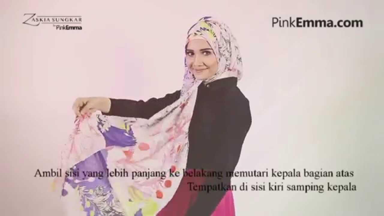 Zaskia Sungkar Tutorial Hijab Segi Empat Gaya Casual Ke Kantor