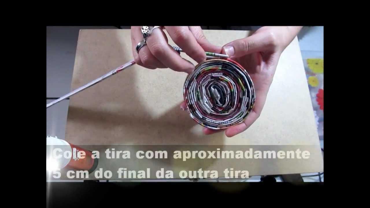 Qual O Artesanato Mais Vendido ~ Artesanato com Jornal (Por Patrícia Langoski) YouTube