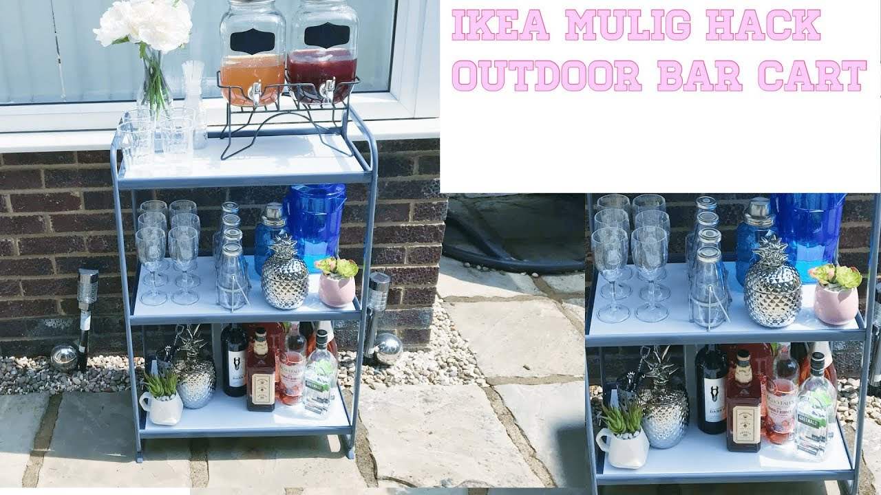 Home Decor Outdoor Bar Cart Ikea Mulig Hack