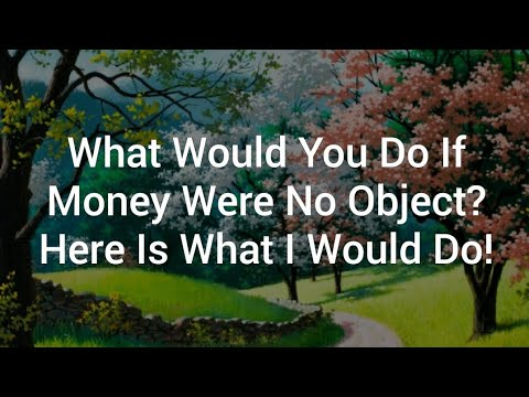 What Would You Do If Money Were No Object? Here Is What I Would Do!