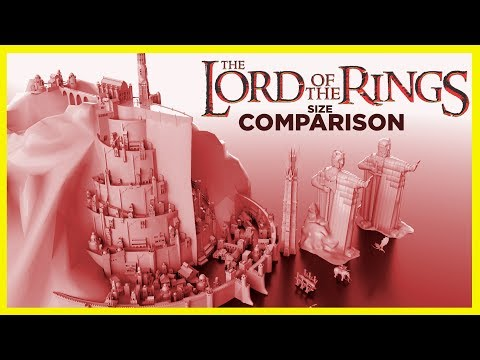 ⚔️ The Lord of The Rings Size Comparison ⚔️