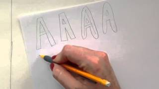 How to draw A, B, C block and bubble letters