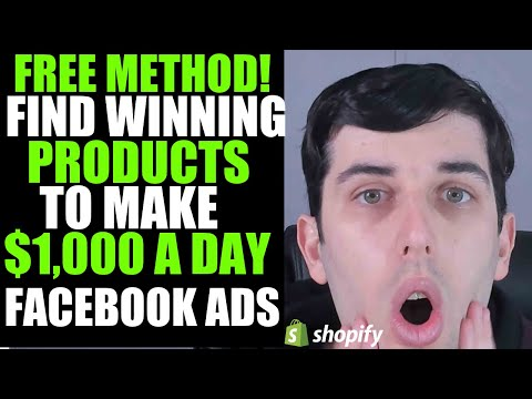 How To QUICKLY And EASILY Find WINNING Products And Make $1,000 Per Day Using Facebook Ads Tutorial thumbnail