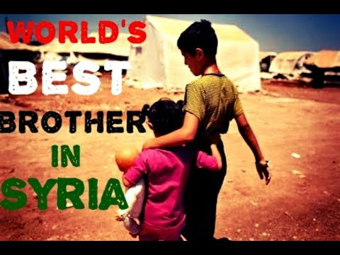A Brother Risked his life to save his sister.. Syria war