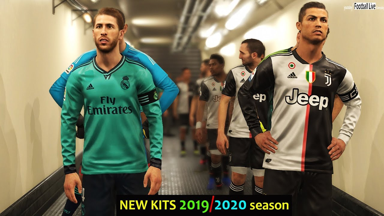 buy online 7f6fc 323b7 PES 2019 | JUVENTUS vs REAL MADRID | C.Ronaldo 2 Free Kick Goal | NEW KITS  2019/2020 Season
